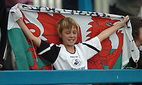 Photo: Ian Hebden.<br />Chesterfield United v Swansea City. Coca Cola League 1. 14/10/2006.<br />A young Swansea fan celebrates at the end of the match.