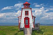 Le Pavillon-Phare du parc de l'Ancien-Quai. Lighthouse on the Gulf of St. Lawrence<br />Saint-André-de-Kamouraska <br />Quebec<br />Canada