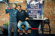 SHOT 12/10/17 12:33:41 PM - Former Buffalo Bills wide receiver and Hall of Fame player Andre Reed signs autographs and meets with fans at LoDo's Bar and Grill in Denver, Co. as the Buffalo Bills played the Indianapolis Colts that Sunday. Reed played wide receiver in the National Football League for 16 seasons, 15 with the Buffalo Bills and one with the Washington Redskins. (Photo by Marc Piscotty / © 2017)
