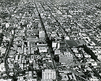 1967 Looking east from Hollywood Blvd. & La Brea Ave.