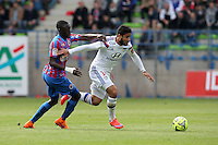 Nabil FEKIR / Dennis APPIAH - 09.05.2015 -  Caen / Lyon  - 36eme journee de Ligue 1<br />