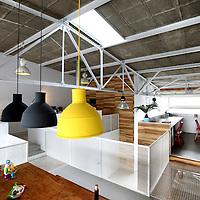 Nederland, Amsterdam , 6 maart 2012..Voorbeeld van Lofts adres KNSM Lofthuis Levantplein 5, ontworpen door architect De Hoofden/Marc Koehler..Foto:Jean-Pierre Jans