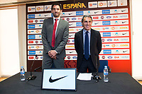 President of FEB, Jorge Garbajosa and coach Sergio Scariolo attends to the reading of the list of players preselected to Eurobasket 2017 in Madrid, June 28, 2017. Spain.<br /> (ALTERPHOTOS/BorjaB.Hojas)