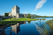 Ross castle, Killarney, the last castle in Ireland to fall to Oliver Cromwell. On the shores of Lough Leane (Loch Lein) Killarney's largest lake.<br /> Photo: Don MacMonagle <br /> e: info@macmonagle.com