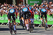 Team BMC during the Tour de France 2018, Stage 3, Team Time Trial, Cholet-Cholet (35 km) on July 9th, 2018 - Photo Ilario Biondi/ BettiniPhoto / ProSportsImages / DPPI