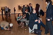PIERA CONSTANTINI SCALA; PETER SAVILE; ANNA BLESMAN;  , Places Strange and quiet. Exhibition of photos by Wim Wenders. Haunch of Venison. 14 April 2011.  -DO NOT ARCHIVE-© Copyright Photograph by Dafydd Jones. 248 Clapham Rd. London SW9 0PZ. Tel 0207 820 0771. www.dafjones.com.