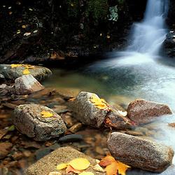 Acadia NP, ME. Waterfalls. Fall Foliage. On the Gorge Trail.  Cadillac Mountain.