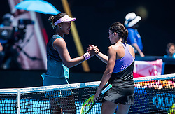 January 21, 2019 - Melbourne, VIC, U.S. - MELBOURNE, VIC - JANUARY 21:NAOMI OSAKA (JPN) and  ANASTASIJA SEVASTOVA (LAT) during day eight match of the 2019 Australian Open on January 21, 2019 at Melbourne Park Tennis Centre Melbourne, Australia (Photo by Chaz Niell/Icon Sportswire (Credit Image: © Chaz Niell/Icon SMI via ZUMA Press)