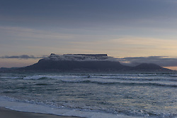 Sept. 30, 2012 - Table View, Western Cape, South Africa - Sunset shots looking at Cape Town and Table Mountain from the beach in Table View at sunset. Photos taken in South Africa by Anacleto Rapping ©2012 (Credit Image: © Anacleto Rapping/ZUMA Wire/ZUMAPRESS.com)