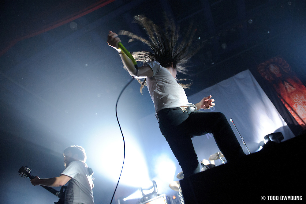"""Photos of Christian metalcore band Underoath performing at the Pageant in St. Louis on July 25, 2010 on """"The Cool Tour."""""""
