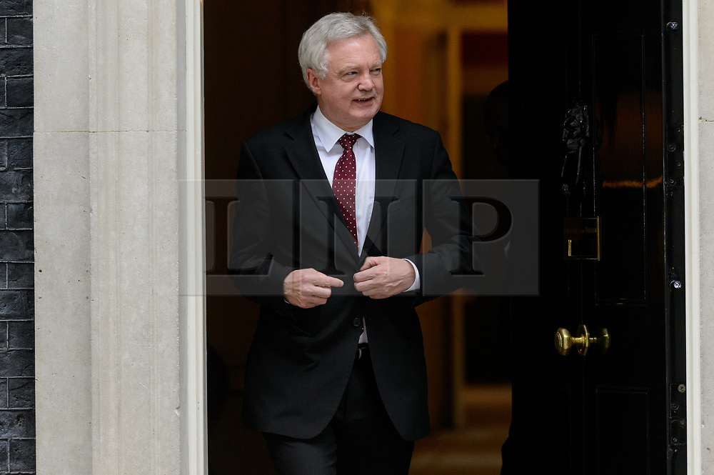 © Licensed to London News Pictures. 21/09/2017. London, UK. Secretary of State for Exiting the European Union DAVID DAVIS  leaves a cabinet meeting in Downing Street. Photo credit: Ray Tang/LNP