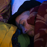 Dan Huxley-Blythe. Around 4 am. 13 anti-fracking activists, one hour into a joint lock-on outside Quadrilla's drill site in New Preston Road, Lancashire. The campaign against the drilling for shale gas has been going for years and since January 2017 many have taken to block the gates to deny Quadrilla being able to drill. Fracking was rejected by Lancashire County council in 2015 but were overruled by central Conservative government and locals are fighting to stop the drilling and reverse the decision.
