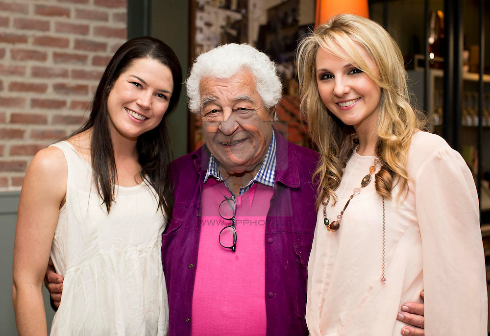 Repro Free: 09/04/2015 <br /> Antonio Carluccio pictured with Angi Crispe and Niamh Wade at the launch of Carluccio's restaurant and food shop in Glasthule, Co Dublin. Invited guests, who were treated to Bellinis and the finest Italian canapes, were in good company with the restaurant's founder, noted chef and restauranteur Antonio Carluccio in attendance. www.carluccios.com. Picture Andres Poveda