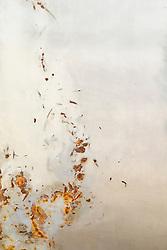 paint peeling on a wall