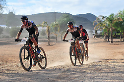 ROBERTSON, SOUTH AFRICA - MARCH 19: Riders during stage one's 110km from Robertson on March 19, 2018 in Cape Town, South Africa. Mountain bikers from across South Africa and internationally gather to compete in the 2018 ABSA Cape Epic, racing 8 days and 658km across the Western Cape with an accumulated 13 530m of climbing ascent, often referred to as the 'untamed race' the Cape Epic is said to be the toughest mountain bike event in the world. (Photo by Dino Lloyd)