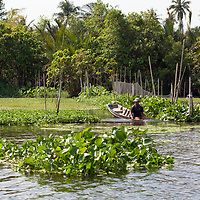 Vegetables and fruits are grown on the banks of Tha Chin River.