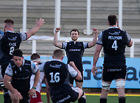 Rugby Union - 2020 / 2021 Gallagher Premiership - Round 11 - Newcastle Falcons vs Harlequins - Kingston Park<br /> <br /> Brett Connon of Newcastle Falcons celebrates at full time<br /> <br /> Credit: COLORSPORT/BRUCE WHITE