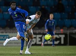 Noble Okello (HB Køge) under kampen i 1. Division mellem HB Køge og FC Helsingør den 4. december 2020 på Capelli Sport Stadion i Køge (Foto: Claus Birch).
