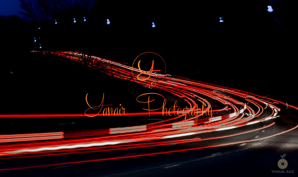 Night time long exposure of the traffic in front of Lake Elkhorn in Columbia Maryland. Please select Shopping Cart Below to Purchase prints and gallery-wrapped canvases, magnets, t-shirts and other accessories