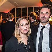 NLD/Utrecht/20170929 - Uitreiking Gouden Kalveren 2017, Lies Visschedijk en partner Jeroen van Wijngaarden