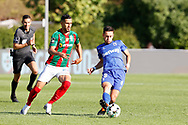 Afonso Sousa in action during the Liga NOS match between Belenenses SAD and Maritimo at Estadio do Jamor, Lisbon, Portugal on 17 April 2021.