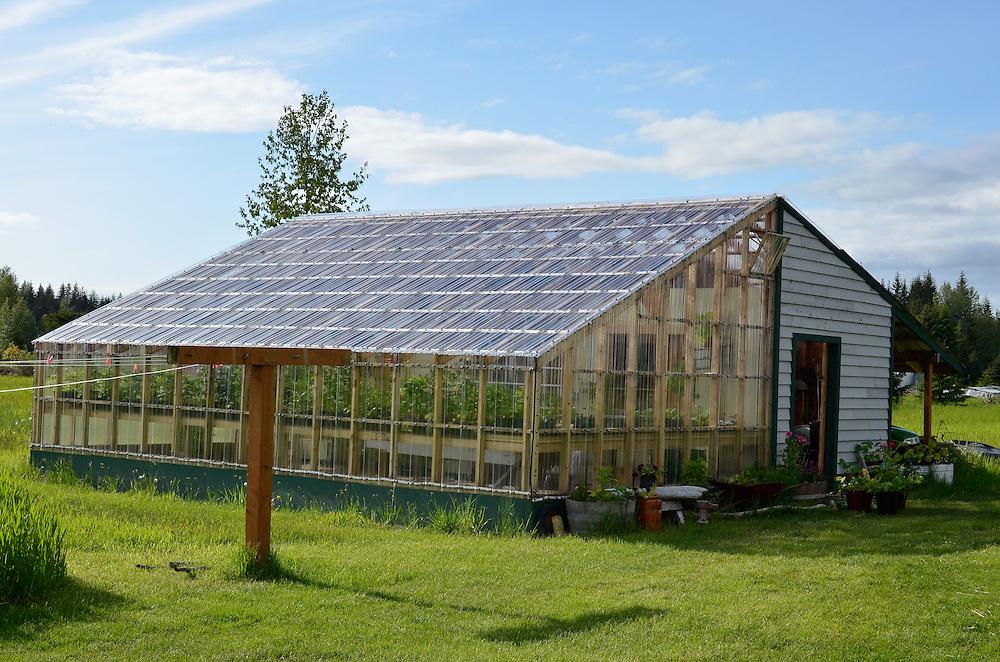 Greenhouse at the Gustavus Inn, Gustavus, Alaska.