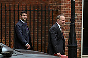 February 25, 2020, London, England, United Kingdom: Foreign Secretary Dominic Raab arriving at 10 Downing Street, in London on Tuesday, Feb. 25, 2020. (Credit Image: © Vedat Xhymshiti/ZUMA Wire)