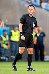 August 1, 2018 - MalmÃÂ, Sverige - 180801 referee Andrew Dallas during the UEFA Champions League qualifying match between Malmö FF and Cluj on August 1, 2018 in Malmö..Photo: Ludvig Thunman / BILDBYRÃ…N / kod LT / 35511 (Credit Image: © Ludvig Thunman/Bildbyran via ZUMA Press)