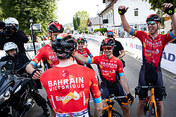 Team BAHRAIN VICTORIOUS celebrate victory of Phil BAUHAUS of BAHRAIN VICTORIOUS after 1st Stage of 27th Tour of Slovenia 2021 cycling race between Ptuj and Rogaska Slatina (151,5 km), on June 9, 2021 in Slovenia. Photo by Matic Klansek Velej / Sportida