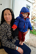 Greece with Doctors of the World (Medecins du monde). Chios Island, one of the places where refugees from Turkey land en route to Northern Europe. Souda camp. Nine month old Ashrafi Mohamadi from Afghanistan.