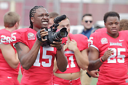 01 August 2017:   Hasan Muhammad-Rogers during 2017 Illinois State Redbirds Football Media Day at Hancock Stadium in Normal IL (Photo by Alan Look)