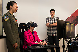 Secretary of the Air Force Heather Wilson visited AFWERX-Austin June 27, 2018. During her visit, Wilson learned more about the mission at AFWERX-Austin, Pilot Training Next, 12th Flying Training Wing at Joint Base San Antonio-Randolph and Basic Military Training Wing at JBSA-Lackland. (U.S. Air Force photo by Senior Airman Gwendalyn Smith)