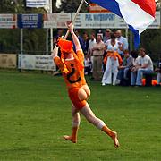 SV Loosdrecht - de Dijk Amsterdam, kampioenswedstrijd, naakte streaker met nederlandse vlag, supporter in oranje