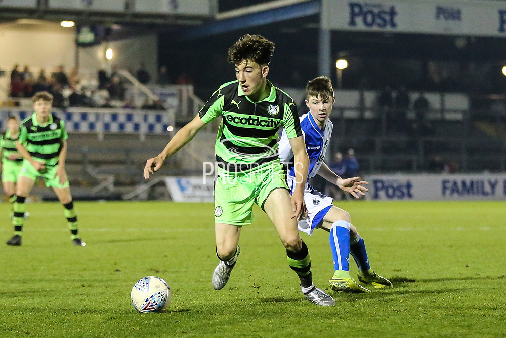 Forest Green Rovers Lewis Spurrier(10) on the ball during the The FA Youth Cup match between Bristol Rovers and Forest Green Rovers at the Memorial Stadium, Bristol, England on 2 November 2017. Photo by Shane Healey.