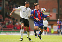 Fotball<br /> Foto: SBI/Digitalsport<br /> NORWAY ONLY<br /> <br /> Crystal Palace v Luton Town<br /> <br /> The Coca-Cola Football League Championship. Selhurst Park.<br /> 06/08/05<br /> <br /> Crystal Palace Jon Macken makes his debut against Luton's Curtis Davies