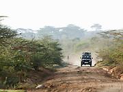 Offroad vehicle near Maasai Mara National Reserve, Kenya