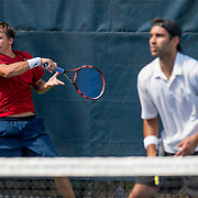 August 21, 2016, New Haven, Connecticut: <br /> Vikram Hundal and Andrew Goodwin in action during a US Open National Playoffs match at the 2016 Connecticut Open at the Yale University Tennis Center on Sunday, August  21, 2016 in New Haven, Connecticut. <br /> (Photo by Billie Weiss/Connecticut Open)
