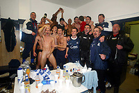 Fotball<br /> 17.02.2004<br /> Foto: Digitalsport<br /> Norway Only<br /> <br /> SOUTHEND CELEBRATE WINING THE LDV SOUTHERN FINAL TO GET TO THE FINAL IN CARDIFF THEIR FIRST CUP FINAL IN THEIR 90 YEAR EXISTENCE