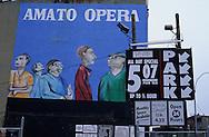 New York. advertising in East Village, Manhattan New York  Usa   /  affiche publicitaire dans L east Village Manhattan ,  New York  USa