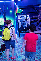 July 13, 2018 - Moscow, Russia - 180713 A picture of Russia president Vladimir Putin inside the museum Muzey Vosstaniya Mashin during the FIFA World Cup on July 13, 2018 in Moscow..Photo: Petter Arvidson / BILDBYRN / kod PA / 92086 (Credit Image: © Petter Arvidson/Bildbyran via ZUMA Press)