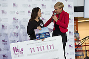 Dec. 29, 2015 - Warsaw, Masovian, Poland -<br /> <br /> 11-millionth passenger at Chopin Airport in Warsaw wins trip to Tokyo<br /> <br /> 11-millionth passenger at Chopin Airport in Warsaw. Passenger number 11 111 111 won a ticket to Tokyo for 2 persons and a voucher for a luxury airport restaurant.  29 December 2015 in Warsaw, Poland.<br /> ©Exclusivepix Media