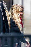 American actress and model Amber Heard arrived at the Royal Court of Justice in London on Tuesday, July 28, 2020. (VXP Photo/ Vudi Xhymshiti)