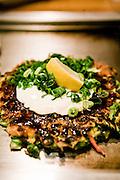 "Okonomi-yaki, Japanese ""stuffed pancake"""