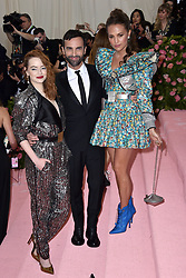 Emma Stone and Alicia Vikander attend The 2019 Met Gala Celebrating Camp: Notes On Fashion at The Metropolitan Museum of Art on May 06, 2019 in New York City. Photo by Lionel Hahn/ABACAPRESS.COM