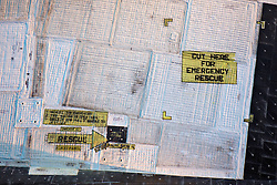 """Space Shuttle Discovery, Air & Space Museum - Steven F. Udvar-Hazy Center """"Cut Here For Emergency Rescue"""""""