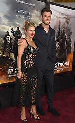"""Elsa Pataky and husband Chris Hemsworth attend the """"12 Strong"""" World Premiere on January 16, 2018 at Jazz at Lincoln Center in New York City, New York, USA."""