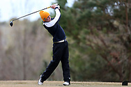 WILMINGTON, NC - MARCH 19: Kent State's Spencer Dobbs tees off on the Marsh Course first hole. The first round of the 2017 Seahawk Intercollegiate Men's Golf Tournament was held on March 19, 2017, at the Country Club of Landover Nicklaus Course in Wilmington, NC.