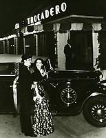 1936 Robert Cummings & Marsha Hunt At Trocadero Cafe