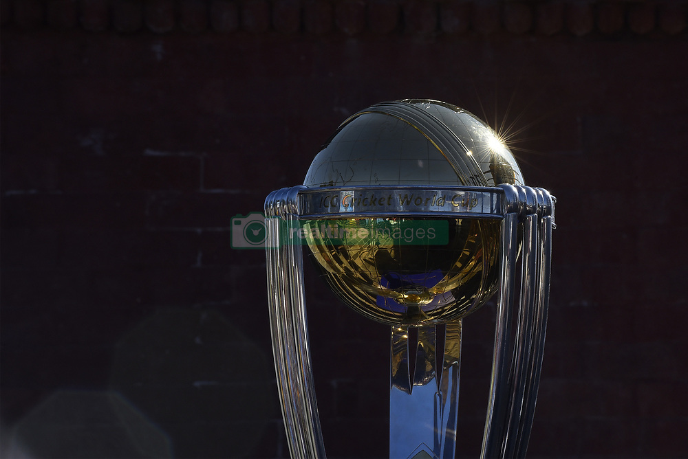 October 28, 2018 - Kathmandu, NP, Nepal - The 2019 ICC Cricket World Cup trophy is pictured in Chandragiri Hills during a country tour in Kathmandu, Nepal on Sunday, October 28, 2018. The 2019 Cricket World Cup is to be hosted by England and Wales from 30 May to 14 July 2019. (Credit Image: © Narayan Maharjan/NurPhoto via ZUMA Press)