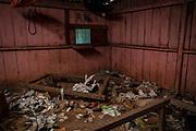 Vista de un hogar abandonado en el municipio Coyuca de Catalán, ubicado en la Sierra de Guerrero. Muchas familias han huído de la violencia generada entre grupos armados de la región, según comenta el comisario de la comunidad, Ignacio Chavez, quien ha hecho un recuento de las cosas que se encuentran en las mismas condiciones.